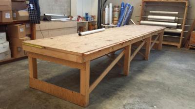 Tavolo da lavoro in legno abbacchiatori pneumatici - Tavolo lavoro cucina ...
